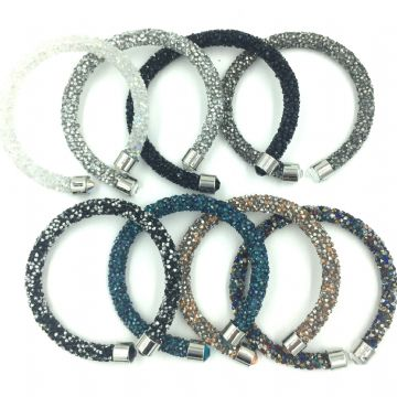10 x Sparkle dust cuff bracelet kit -mixed colours collection 01